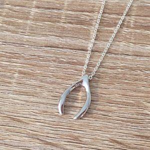1 Oak Jewelry - Silver Wishbone Necklace